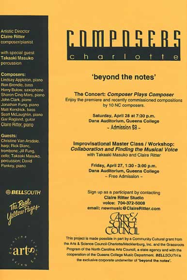 Claire Ritter Composers Charlotte Beyond the Notes